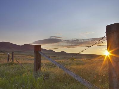 Ranching Country at Daybreak in the Sweetgrass Hills Near Whitlash, Montana, Usa-Chuck Haney-Photographic Print