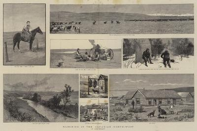 Ranching in the Canadian North-West--Giclee Print
