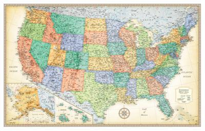 Rand Mcnally Laminated Classic United States Map