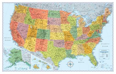 Rand Mcnally Laminated Signature United States Map