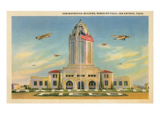 Randolph Air Field, San Antonio, Texas--Art Print