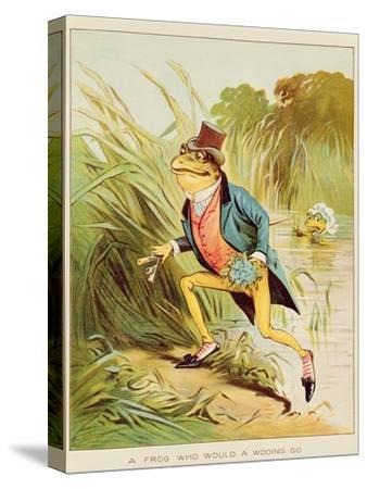 Illustration from 'A Frog He Would A-Wooing Go'
