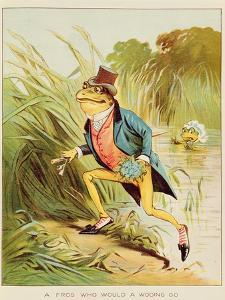 Illustration from 'A Frog He Would A-Wooing Go' by Randolph Caldecott