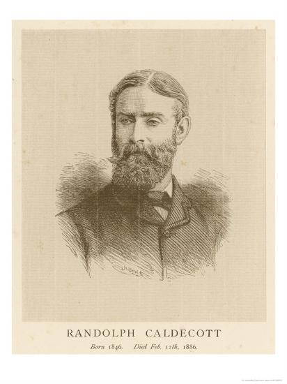 Randolph Caldecott Illustrator and Humorous Artist-H. Uhlrich-Giclee Print