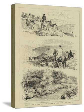 Sketches at a Deer Hunt on Exmoor
