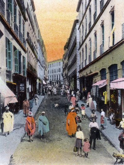 Random Street, Algiers, Algeria, Early 20th Century--Giclee Print