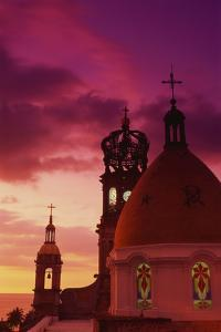 Exterior View of the Church of Guadalupe at Sunset by Randy Faris