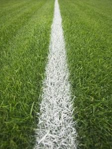 Painted Line on Athletic Field by Randy Faris