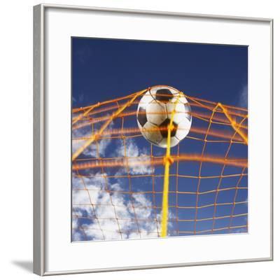 Soccer Ball Going Into Goal Net