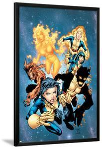 New Mutants No.13 Cover: Sunspot, Wolfsbane, Cannonball, Karma, Wind Dancer and New Mutants by Randy Green