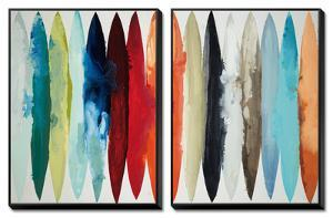Even Flow, 2 Panel Canvas Set by Randy Hibberd