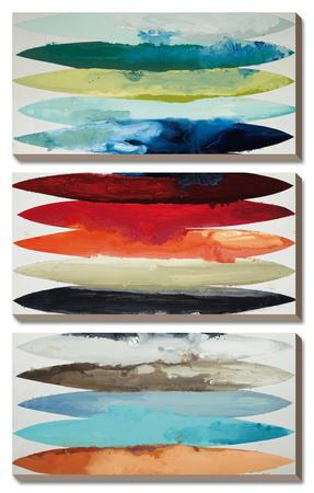 Even Flow, 3 Panel Canvas Set (Vertically Stacked Display) by Randy Hibberd