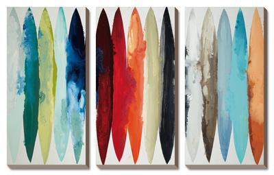 Even Flow, 3 Panel Canvas Set by Randy Hibberd
