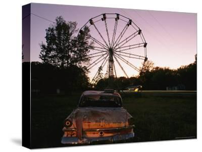 An Abandoned Amusement Park at Twilight
