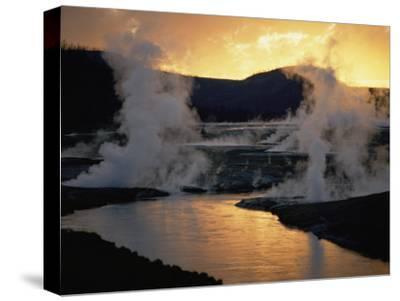 Geyser Basin at Twilight