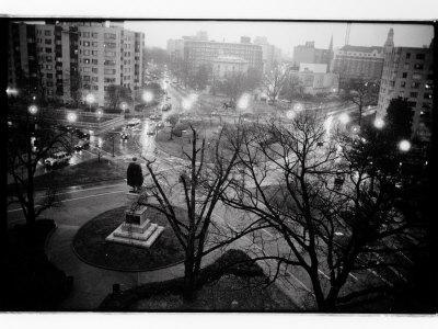 Scott Circle Seen from a Hotel Window, Washington, District of Columbia
