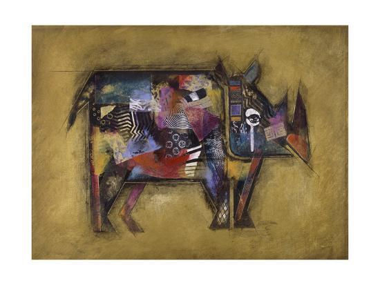 Randy the Rhino-John Douglas-Art Print