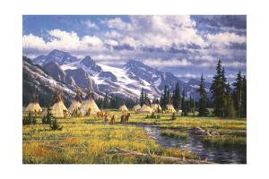 Nez Perce Summer Camp by Randy Van Beek