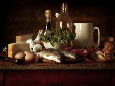 Range of Fresh Ingredients for Cooking-Steve Lupton-Photographic Print