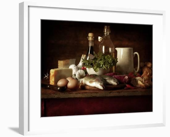 Range of Fresh Ingredients for Cooking-Steve Lupton-Framed Photographic Print