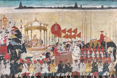 Rao Tuljaji in Procession, C.1775--Giclee Print