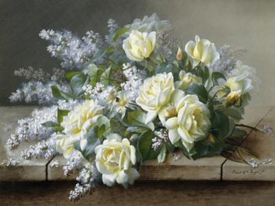 A Still Life with Yellow Roses by Raoul De Longpre