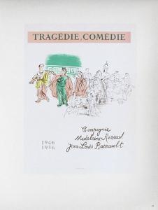 AF 1956 - Tragédie, Comédie by Raoul Dufy