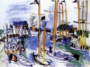 Bassin de Deauville, 1926 by Raoul Dufy