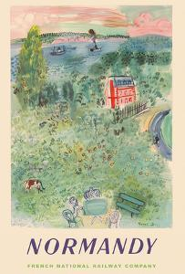 Normandy, France - SNCF (French National Railway Company) by Raoul Dufy