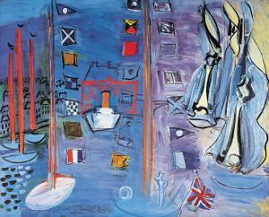 The Basin at Deauville by Raoul Dufy