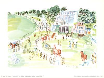 The Paddock at Longchamp by Raoul Dufy