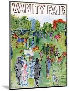 Vanity Fair Cover - August 1934 by Raoul Dufy