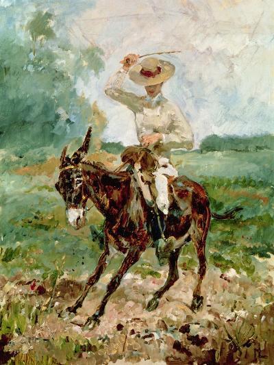 Raoul Tapie De Celeyran (1868-1937) on a Donkey-Henri de Toulouse-Lautrec-Giclee Print