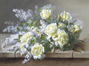 Still Life with Yellow Roses by Raoul Victor Maurice Maucherat de Longpre