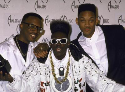 Rap Artists Dj Jazzy Jeff, Flavor Flav and Will Smith at the American Music Awards