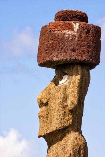 Rapa Nui National Park, Easter Island. Moai Statue-Janet Muir-Photographic Print