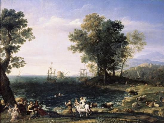 Rape of Europa, 1655-Claude Lorraine-Giclee Print