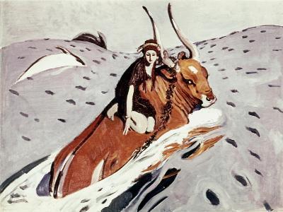 Rape Of Europa-Valentin Serov-Giclee Print