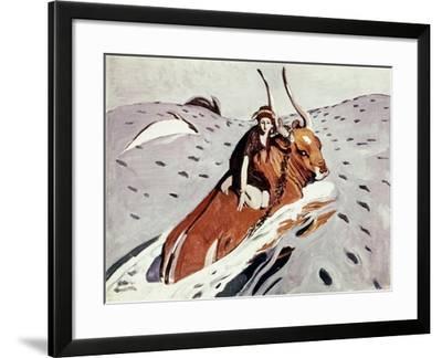 Rape Of Europa-Valentin Serov-Framed Giclee Print