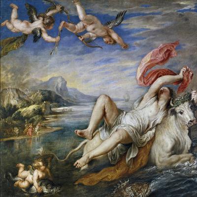 Rape of Europe, 1628-9-Peter Paul Rubens-Giclee Print