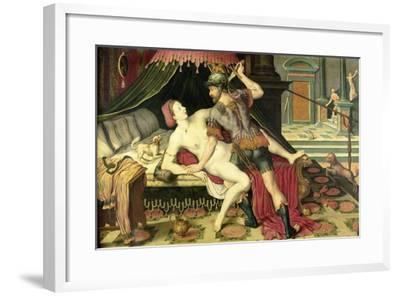Rape of Lucretia--Framed Art Print