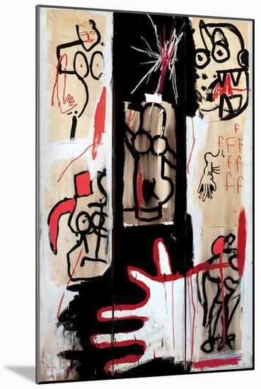 Rape of Roman Torsos-Jean-Michel Basquiat-Mounted Giclee Print