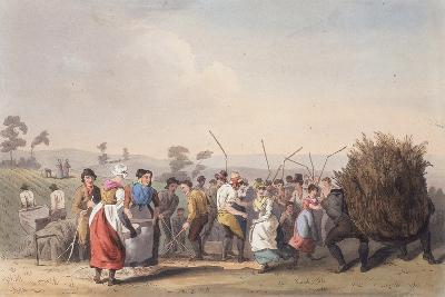 Rape Threshing, 1st November 1813-Robert Havell the Elder-Giclee Print