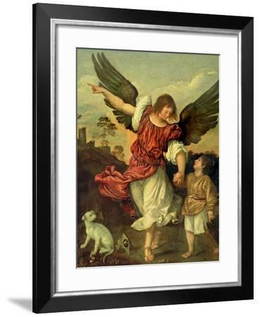 Raphael and Tobias, 1507-8-Titian (Tiziano Vecelli)-Framed Giclee Print
