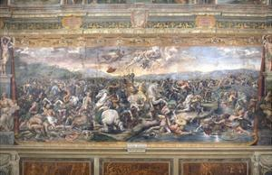 Constantine's Battle at the Milvian Bridge by Raphael