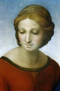 Detail of Madonna of the Meadow by Raphael