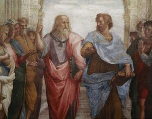 Detail of Plato and Aristotle from The School of Athens by Raphael
