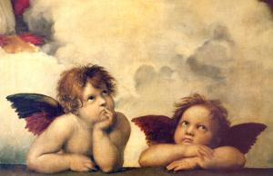Detail of the Sistine Madonna, c.1514 by Raphael