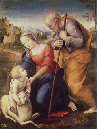 Holy Family with the Lamb