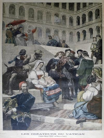 Raphael in the Vatican, 1832--Giclee Print